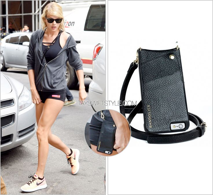 Arriving at the gym | New York City, NY | August 10, 2016 Bandolier 'Sarah Black Leather & Gold Phone Case' - $100.00 Worn with: Brandy Melville hoodie, Adias Stellasport shorts and Nike sneakers Also worn: At the gym, August 8