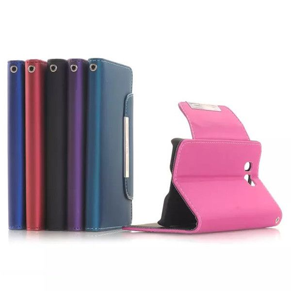 Flip Leather Protective Case With Rope For Samsung Galaxy Alpha G8508S