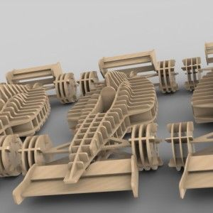Quebra Cabeça 3D F1 FAB Puzzle3D Projeto Para Corte Laser e Cnc Router http://www.pinterest.com/johnnybegood196/ferramentas-e-marcenaria/