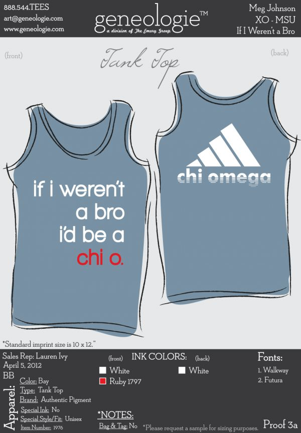 I needed this Chi Omega tank back in my day..So many great memories with the  Chi O's.