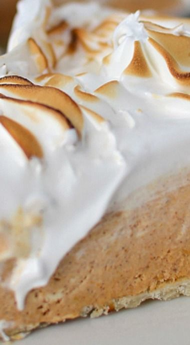 Frozen Pumpkin Meringue Pie ^