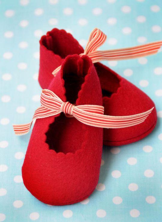 Hermosos zapatos para bebe