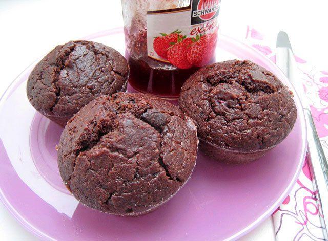 Jednoduché čokoládovo kávové muffiny   Veganotic