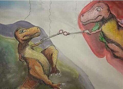 OMG, t-rex for the win