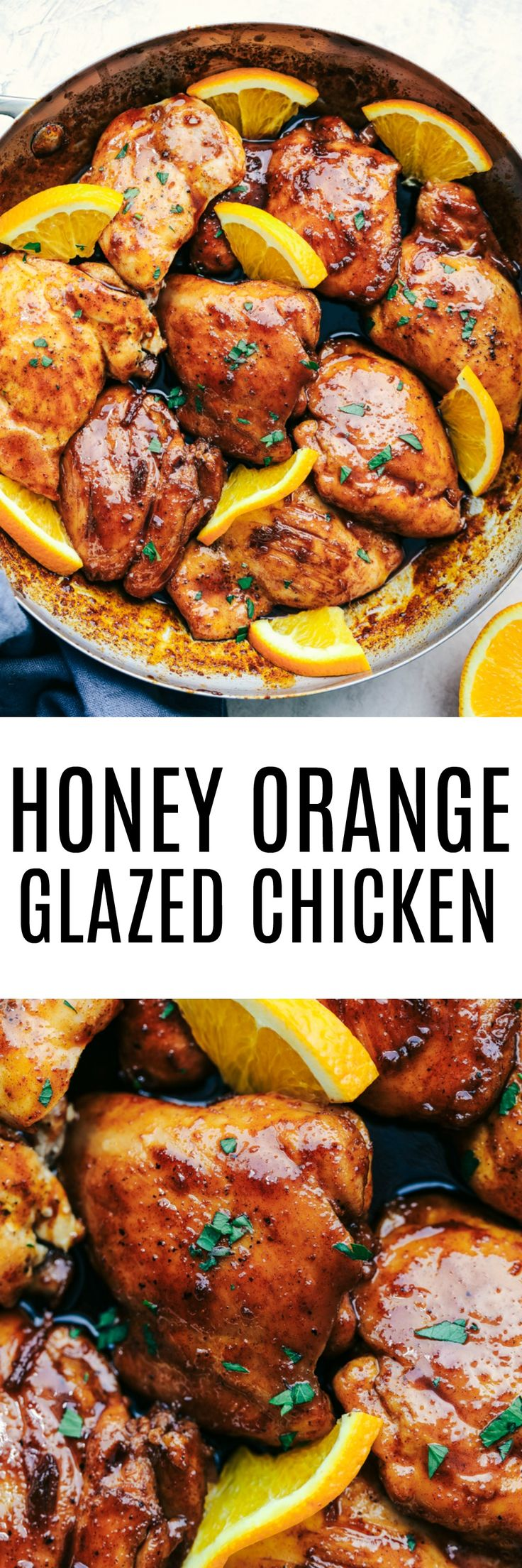 Honey Orange Glazed Chicken combines delicious spices and a sweet and tangy honey orange glaze.  This makes the perfect meal for your family and has amazing flavor!