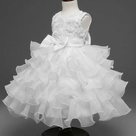 b3a5f2d48de9 Bowknot Rose Pattern Ruffled Princess Dress ...#toddlerprincessdress  #pinkprincessdresstoddler #princessdressfortoddler #