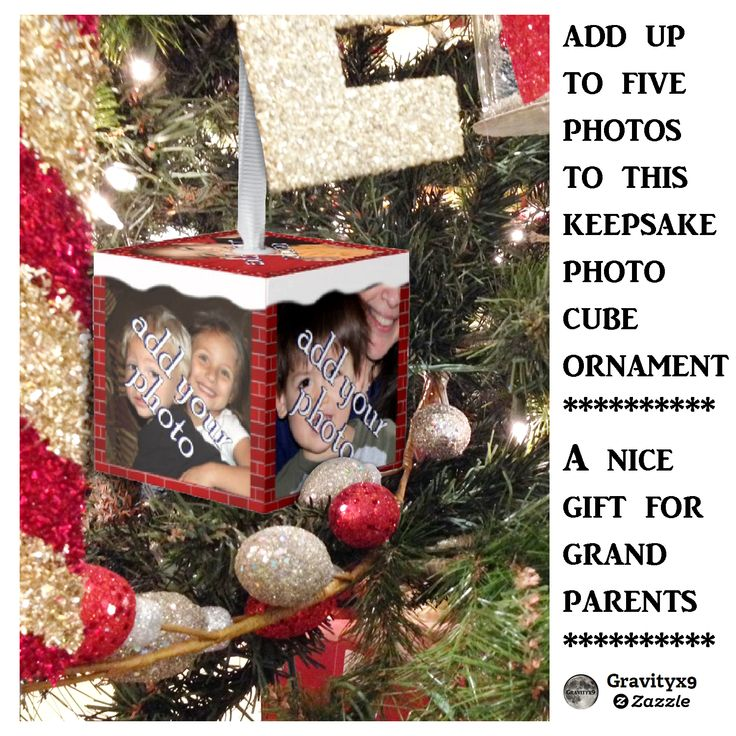 Christmas Brick and Snow Photo Frame Cube Ornament - Add up to five of your favorite photographs to create a lovely keepsake for Christmas holidays to come. Great gift for grandparents to have photographs of the grand children, for a Teacher to have of their students or add photos of the family pet(s) to give to their owner. The options are endless for a keepsake ornament with photographs ~ #Zazzle #Gravityx9 #PhotoOrnament #ornament #ChristmasOrnament #ChristmasKeepsake #Keepsake…