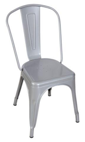 Silver Replica Tolix Chair High Back