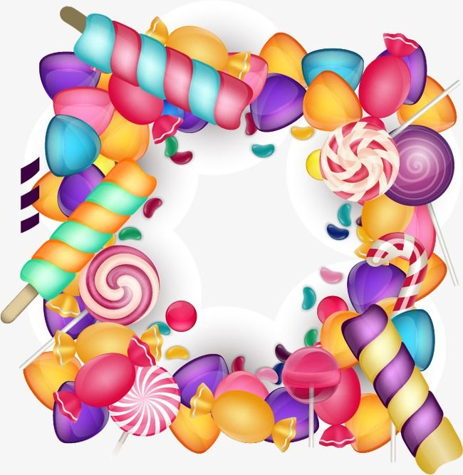 Cute Candy Border Frame Candy Border Cartoon Border Png Transparent Clipart Image And Psd File For Free Download Candy Stickers Cute Candy Candy Balloons