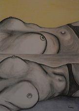 Vanessa Mazzali Attimi. Parte III (2013). Carboncino e matite colorate  su carta