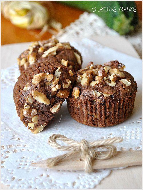 Czekoladowe muffinki z cukinią – przepis