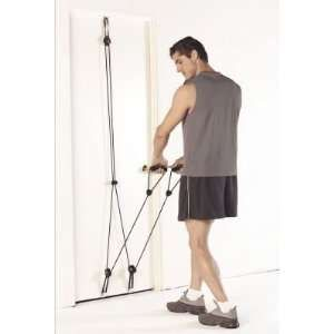 The Tower 200 is a super-portable workout gadget that connects to any normal measured entryway. I was charmingly astonished to discover the it was in reality super simple to set up. You basically connect the highest point of the casing to the highest point of your entryway, and the base of the casing to the base of the entryway. The resistance groups append effectively to the metal edges.
