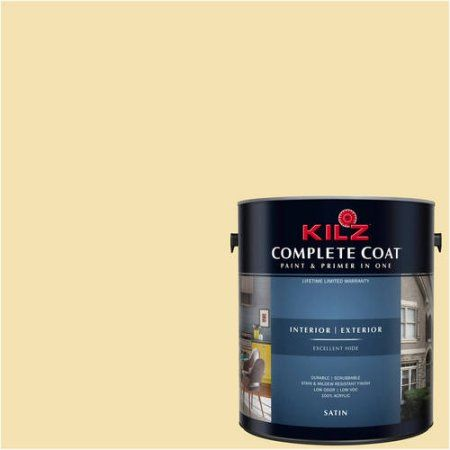 Kilz Complete Coat Interior/Exterior Paint & Primer in One #LE230-01 Bartlett, 1 gal, Flat