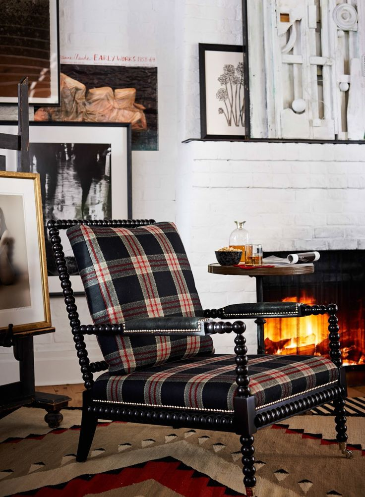 292 best ralph lauren home images on pinterest ralph - Red black and white themed living room ...