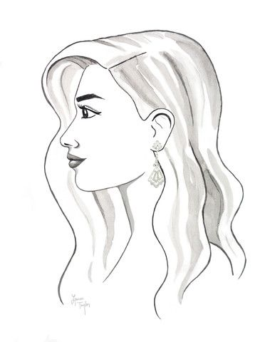 50's__Polcini__Deco Rhinestone Clip-on Earrings