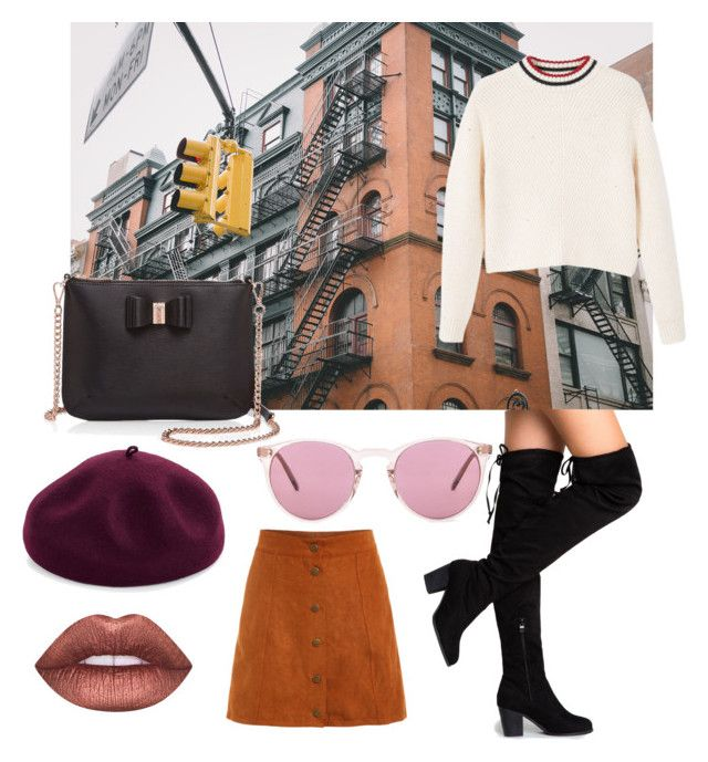 """""""Untitled #14"""" by salapopo on Polyvore featuring MANGO, Ted Baker, Lime Crime, Kathy Jeanne and Oliver Peoples"""
