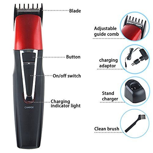 Flashmen Professional Rechargeable Electric Beard Hair Shaver Grooming Hair Clipper Hair Razor Trimmer Clipper Set for Men