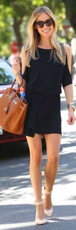 I want pretty: LOOK- Outfits cool en #negro para usar en verano/ #Cool #black #outfits for summer!