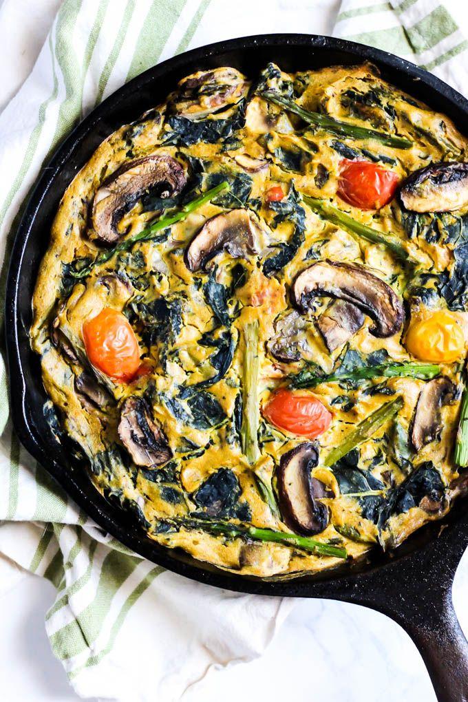 Asparagus Mushroom Vegan Quiche