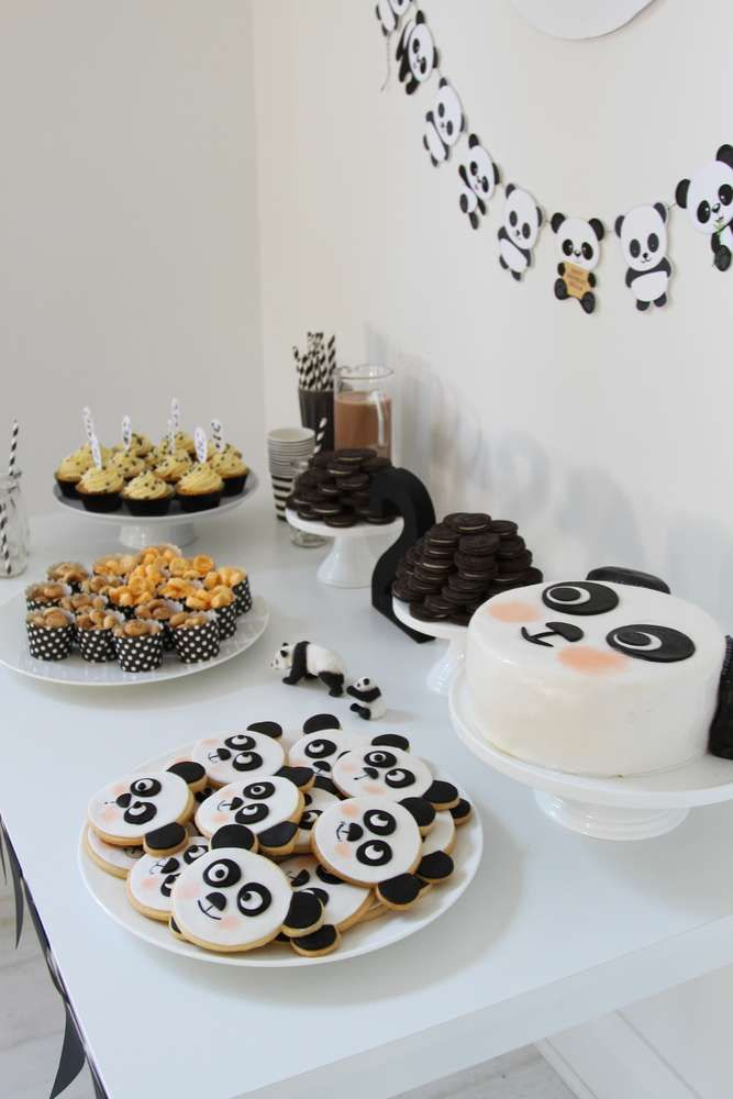 Amazing cake at a panda birthday party! See more party planning ideas at CatchMyParty.com!
