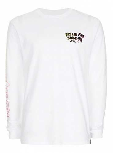 Prezzi e Sconti: #Quiksilver white feelin fine long sleeve misure Xsmlxl  ad Euro 40.00 in #Topman #Clothing mens tops