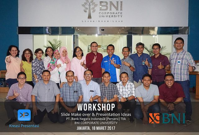 Pelatihan Slide Make Over & Presentation Ideas, BNI Jakarta