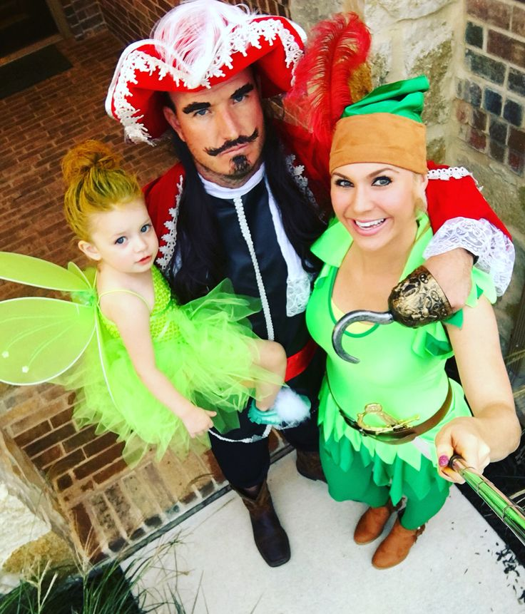 peter pan tinker bell and hook halloween costume