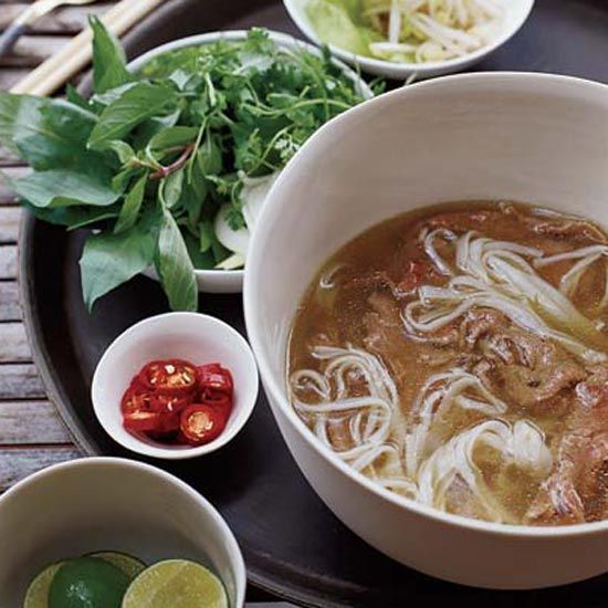 Spiced Beef Pho with Sesame-Chile Oil // More Spicy Recipes: http://www.foodandwine.com/slideshows/spicy-recipes #foodandwine