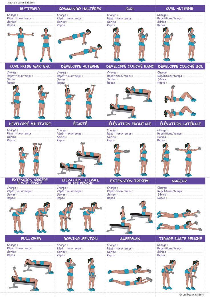 492 best exercices  astuces minceur  sport  fitness images on - programme pour plan de maison