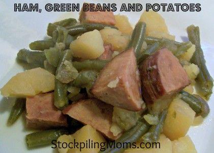 Ham, Green Beans and Potatoes #Crockpot #Recipe  http://www.stockpilingmoms.com/2012/09/ham-green-beans-and-potatoes/