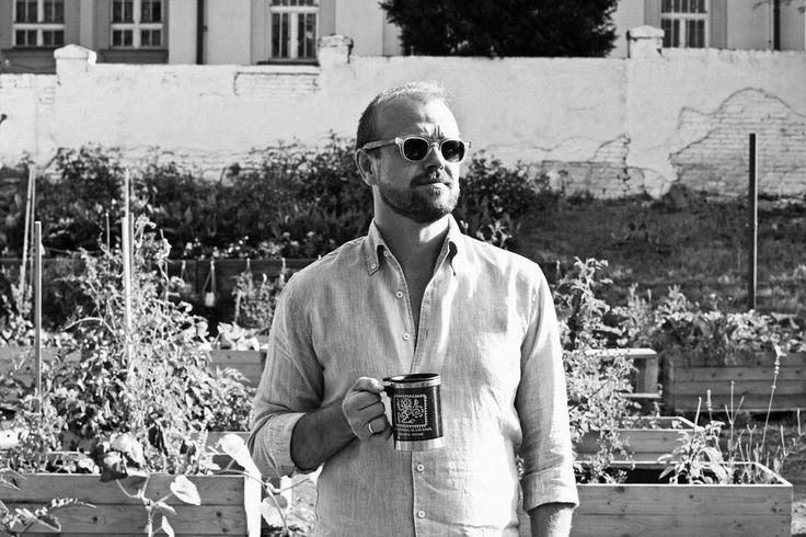 Czeslaw Walek, Prague Pride Festival Director in Zelená zahrada Smetanka (community garden) (www.praguepride.cz/en)  (www.zahradasmetanka.cz/en/)