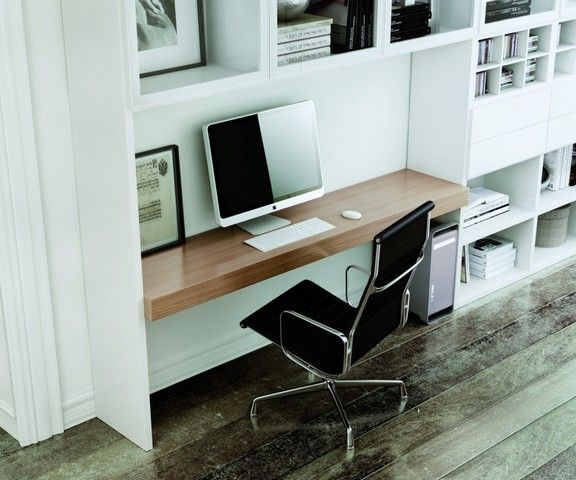 biblioth que carr la sala avec plateau de bureau int gr. Black Bedroom Furniture Sets. Home Design Ideas