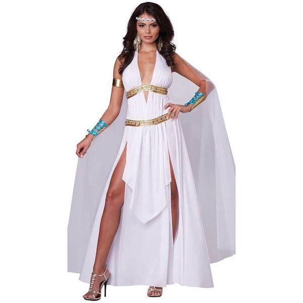 Best 25 toga costume womens ideas on pinterest toga costume diy womens adult deep v side slit roman toga costume white 34 liked solutioingenieria Images