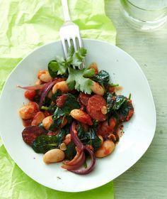 Spinattopf mit Chorizo // Stew with Spinach & Chorizo