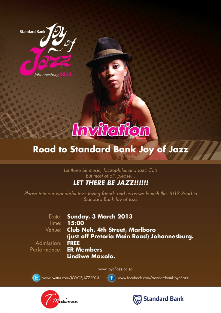Announcing the launch of the 2013 Road to Standard Bank Joy of Jazz