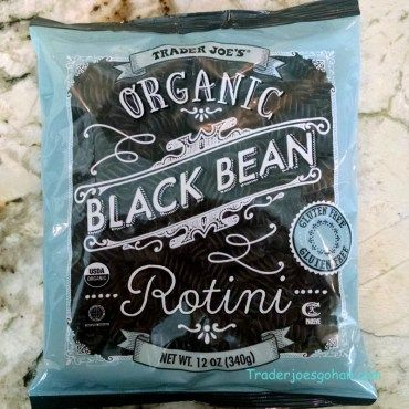 Trader Joe's Organic Black Bean Rotini 12oz/340g $2.99   #TraderJoes #Organic #BlackBean #Rotini