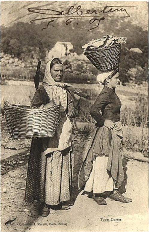Carte postale ancienne Corse - Types Corses