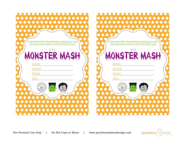 Best Birthday Invitations Template Images On Pinterest - Halloween birthday invitations etsy