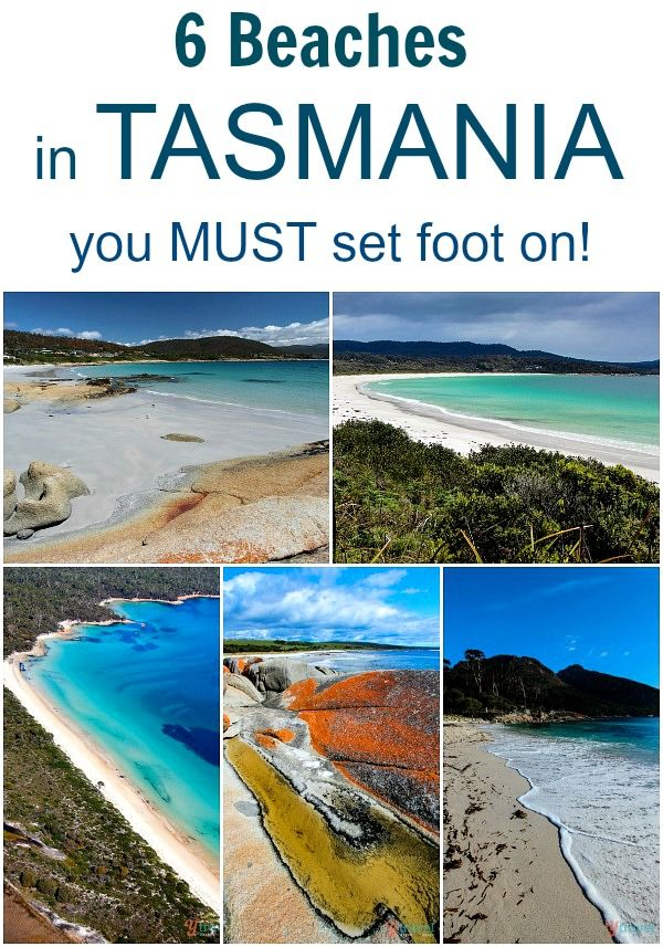 6 Beaches in Tasmania, Australia you must set foot on! #tasmania #beaches #discovertasmania
