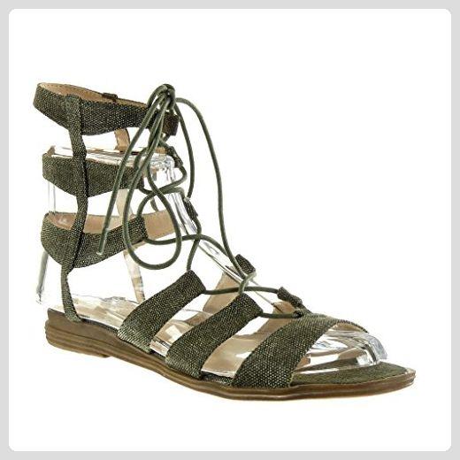 Angkorly Damen Schuhe Sandalen - Römersandalen - Sexy - Bestickt - Multi-Zaum Blockabsatz 2 cm - Blau 2015-903 T 36 hh3ukjk