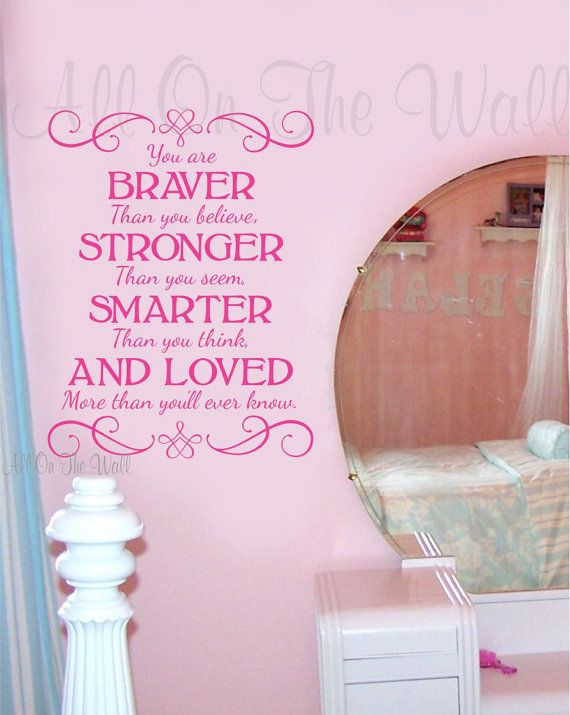 Teen Saying Wall Decal Baby Girl Boy Nursery by AllOnTheWallVinyl