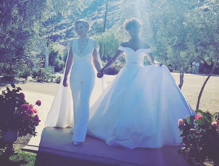 """<p>A little more than two years after they first started dating, <em>Orange Is the New Black</em> star Samira Wiley and writer Lauren Morelli <a rel=""""nofollow"""" href=""""http://people.com/celebrity/samira-wiley-lauren-morelli-married/"""">got married</a> in an intimate Palm Springs ceremony on March 25. The brides wore custom Christian Siriano — with Wiley opting for a gown and Morelli a jumpsuit. """"I just sort of want to sit back and be like, yeah sure, whatever,"""" Wiley previously told PEOPLE of…"""