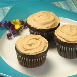 Chocolate Cinnamon Cupcakes With Peanut Butter Cinnamon Frosting