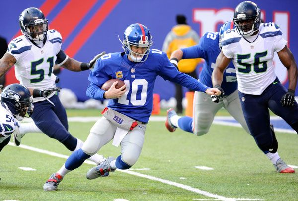 "The Seahawks kickoff the second half of their season at CenturyLink Field on Sunday by hosting the New York Giants, who are 3-5 and facing a cross-country flight to Seattle after playing on ""Monday Night Football."""