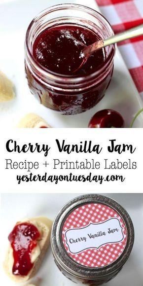 DIY Cherry Vanilla Jam Recipe: Easy to make jam recipe, perfect for sandwiches, …