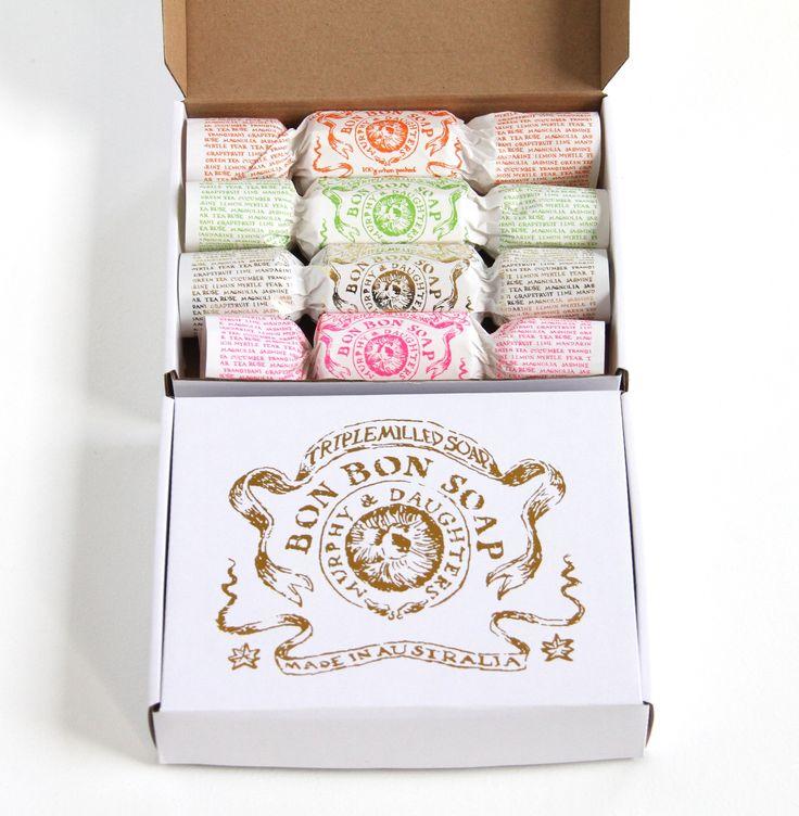 hardtofind.   Bon bon soap (box of 4 in gold foiled giftbox)