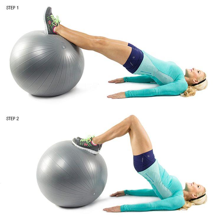 Упражнения на мяче для похудения ляшек