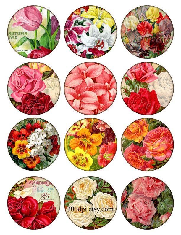 cercle de 2.5 pouces fleurs jardin rond images Vintage imprimable Tags fond Digital Collage feuille scrapbooking télécharger et imprimer par 300dpi sur Etsy https://www.etsy.com/be-fr/listing/96743671/cercle-de-25-pouces-fleurs-jardin-rond