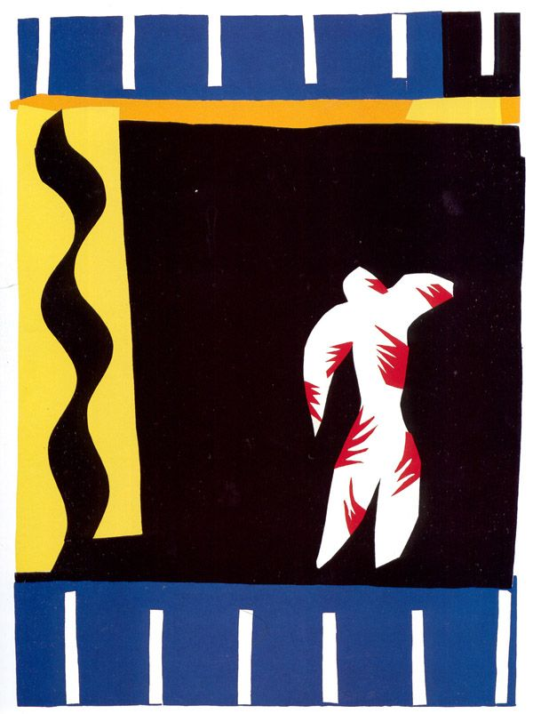 "Henri Matisse  LE CLOWN 1943 print based on a cut out 16.5 x 10.5"" EXPRESSIONISM"