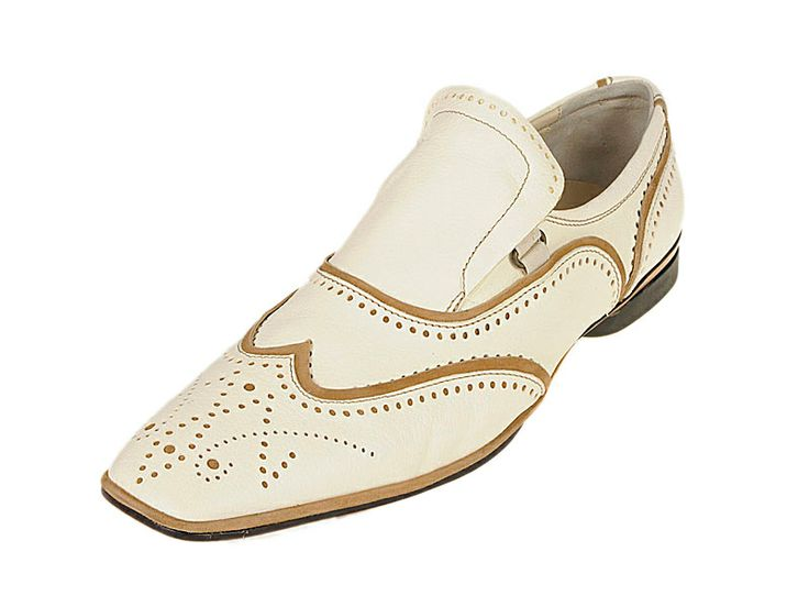 1622 Fabi  - Men's #handpainted #Leather #Shoe  The ultimate in luxurious style, these entirely handmade #loafers are crafted from Italian leather and are hand painted to achieve a truly one of a kind look.   $190 on sale now http://rinastore.com/1622-fabi-shoes-white/dp/2065 Made in #Italy. Available at Rina's #Boutique